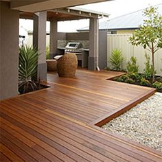 50 Gorgeous Backyard Patio Deck Design and Decor Ideas - Page 40 of 53 Outdoor Areas, Outdoor Rooms, Outdoor Living, Outdoor Decking, Merbau Decking, Indoor Outdoor, Backyard Patio, Backyard Landscaping, Small Backyard Decks