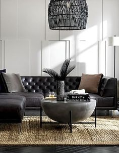 MODERN LIVING ROOM - Do you dream to have the best living room in the neighborhood? The fact that living room provides first impression for the entire space of Table Decor Living Room, My Living Room, Black Furniture, Living Room Furniture, Furniture Nyc, Furniture Layout, Cheap Furniture, Black Coffee Tables, Black Marble Coffee Table