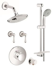 grohe europlus shower system with rain shower h