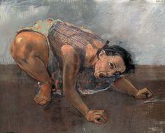 Paula Rego - Dog Woman  1994, Pastel on canvas  120 x 160 cm