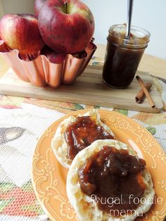 Homemade Crock Pot Apple Butter via thefrugalfoodiemama.com - let your slow cooker do all the work when making this thick, spiced apple spread!