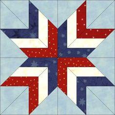 Dream Castle Quilts - firecracker star block paper pieced
