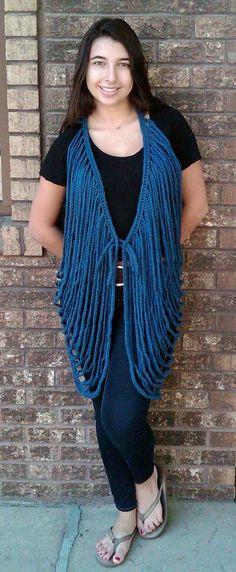Crocheted Vest www.cefiber.com