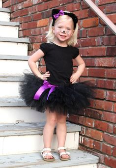 BLACK+CAT+COSTUMECustom+Made+HandTied+Ribbon+Tutu+by+HAPPYBUBKIN+$38.00  sc 1 st  Pinterest & Black Cat Costume Tutu Tail u0026 Ears - Toddler - Pink Cat Tutu ...