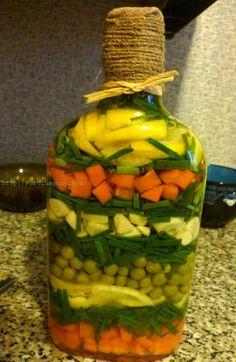 Бутылка с овощам   Урожайная дача, интернет журнал, все о даче