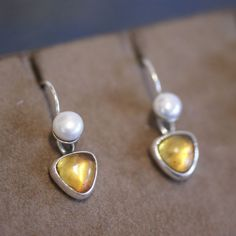 Mexican Stone and Silver Earring