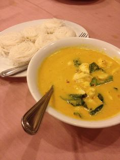 Raya Restaurant, Phuket, Thailand — by Elizabeth Kelsey Bradley. Crab curry and rice noodles