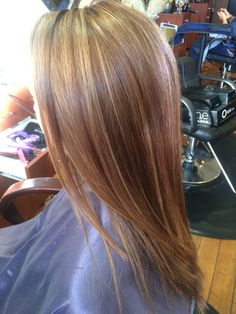 Light brown with caramel highlights