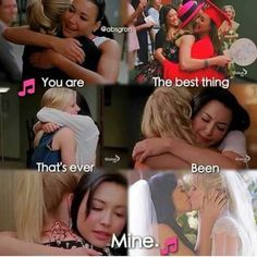 Santana Lopez and Brittany S. Glee Memes, Glee Quotes, Glee Santana And Brittany, Rachel And Finn, Glee Club, Naya Rivera, Chris Colfer, Harry Potter, Best Shows Ever