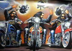 "David Mann moto Biker Easyriders Centerfold Art Poster impression casque protestation vélo Chopper Sturgis Daytona ""x Harley Davidson Signs, Harley Davidson Tattoos, Motorcycle Art, Bike Art, Motorcycle Tattoos, Cycle Painting, David Mann Art, Rockabilly Art, Cars Coloring Pages"