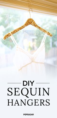 Add an extra touch of sparkle to your wedding day with these pretty-in-gold sequined hangers. Whether you are using them to showcase your gorgeous gown or wrapping them up as personalized gifts for your bridesmaids, these hangers will make the perfect accessory for your big day. Best yet, the hangers are surprisingly easy to personalize and are so affordable to make. All you really need is some wire and a set of pliers to get the lettering done. It's as simple as that!