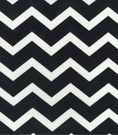 Black and white chevron! Love this for the nursery plus JoAnn's has it in every color