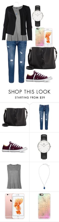"""""""Day #66"""" by jojoenes ❤ liked on Polyvore featuring Maison Margiela, Current/Elliott, Converse, Daniel Wellington, Boutique, Chico's, Promod and Casetify"""
