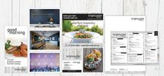 Client: AT Hotels / Brighwater Hotel | Services: Banners & Signage, Brochures, Corporate branding, Digital, Flyers/Posters, Logo Design, Stationery, Style Guide | Industry: Hospitality