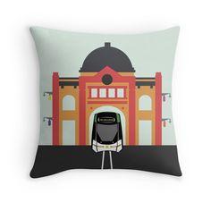 Melbourne Australia Icon - Tram #throwpillow #home #decor #pillow