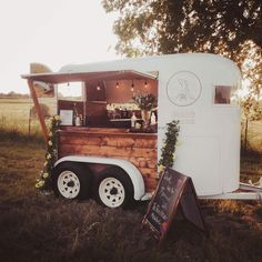 Horsebox bar trailer conversion. Want a mobile bar of your own? We design and build your bar! www.ThePourHorse.com
