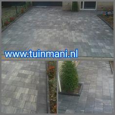 In deze achtertuin hebben we deze 20x30cm beton tegels mogen plaatsen. Bij Tuinmani hebben we alle soorten bestrating, zoals vlonders , composiet , keramisch, gebakken en natuursteen . Geplaatst door en verkrijgbaar bij #tuinmani @Tuinmani www.tuinmani.nl Sierbestrating