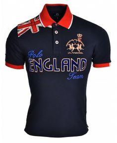 Polo La Martina ENGLAND Camisa Polo, Polo Tees, Polo Shirt, Ralph Lauren Style, Polo Ralph Lauren, Moda Junior, Surf Wear, My T Shirt, Shirt Style