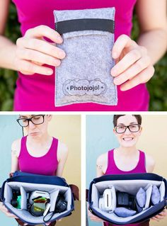 Keep your camera bag organized and your photo accessories protected with the Photographer's Pouch. Super organization ready, these guys have velcro backs so you can stick 'em to your camera bag, the back of a wool sweater, maybe even your dog!