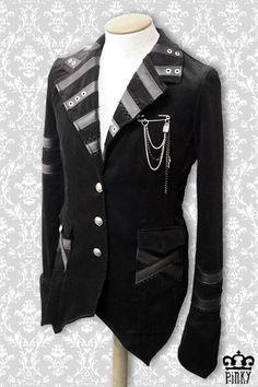 Eleganter Herrenblazer mit dem gewissen Etwas. Passt auch super zu einem Steampunk Outfit!  Die Brosche ist inklusive.