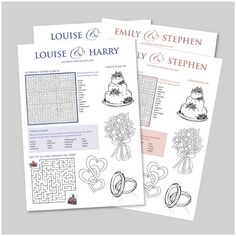 wedding activity sheet for kids