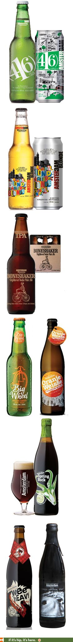 Amsterdam Brewery's best bottle and can designs.