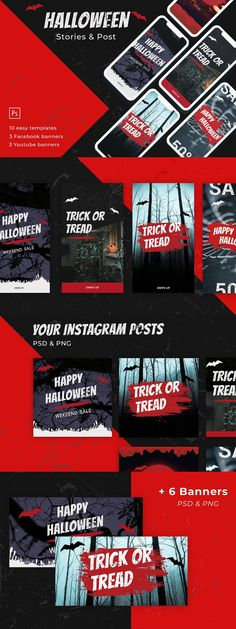 Halloween Stories, Instagram Accounts, Instagram Posts, Youtube Banners, Instagram Story Template, Banner Template, Good Mood, Social Media, Ads