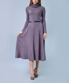 26b56fe009d Lila Kass Lilac Wool-Blend Turtleneck Dress - Plus Too