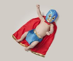 What do you want your kid to be? How about a Luchador? #ambitions #careers #babies Click here for other occupations: http://www.rewards4mom.com/photos-of-baby-in-different-careers/
