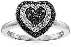 Sterling Silver 1/10cttw Black Diamond Heart Ring, Size 7 by Amazon Collection - See more at: http://blackdiamondgemstone.com/jewelry/rings/statement/sterling-silver-110cttw-black-diamond-heart-ring-size-7-com/#sthash.oDUyWbgV.dpuf