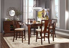 Shop for a Tillery Parc  5 Pc Counter Height Dining Room at Rooms To Go. Find Dining Room Sets that will look great in your home and complement the rest of your furniture.