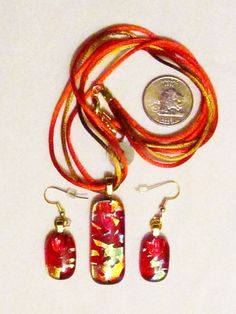 Glass Jewelry, Personalized Items, Red, Image
