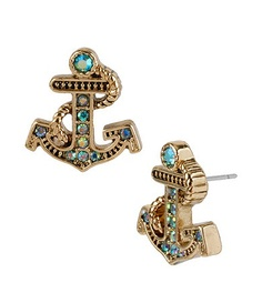 Betsey Johnson Anchor Earrings