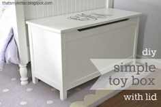 """s"" Is For Simple Toy Box With Lid"