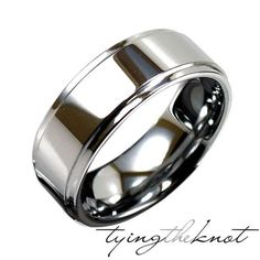 Tungsten Carbide High Polished Silver Drop by TyingTheKnotbyClaude