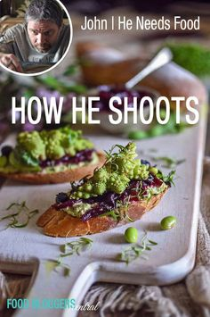 Go behind the scenes and learn how the talented John from He Needs Food takes his food photos.