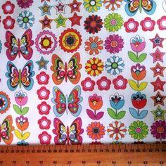 Butterflies & Friends Ripstop Waterproof Fabric, Butterflies, Friends, Amigos, Boyfriends, Butterfly, True Friends, Caterpillar