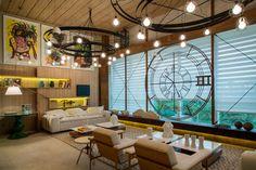 O Loft do Artwork Hunter é um exemplo fiel de uma moradia ou estadia num Open concept house. Projeto: Mário Santos