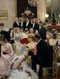 """""""The Soirée"""" (1880) → Jean-Georges Béraud - 1849/1936."""