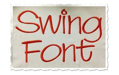 Swing Machine Embroidery Font Monogram by RivermillEmbroidery, $2.95