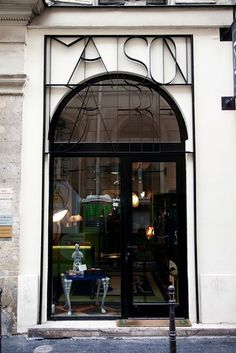 Vincent darre at home and at his shop maison darre in paris store fronts фа Design Garage, Shop Front Design, Exterior Design, Exterior Signage, Design Shop, Door Design, Shop Interior Design, Retail Design, Boutiques