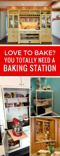 Loving these kitchen baking station ideas - now I just have to figure out where to put mine!