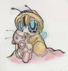 little bumblebee_(bee pajamas) by TheDarkstarlduxd on DeviantArt// It's a baby bumblebee! *squealing happily* SO CUTE!
