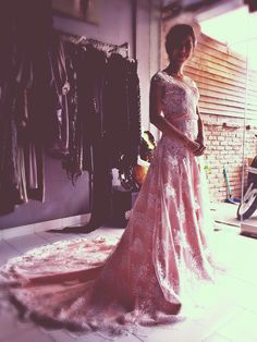 the making of Kiki Sherly wedd gown - clientelle