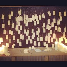 Prayer Board at some church (just saw idea on Pinterest)-could be a cool idea to do yearly & then take them down each year & see how God has been answering! Especially with kids!