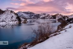 Magical sunrise over Luna dam