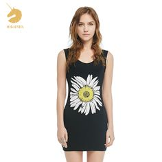 Herve Leger Sleeveless A-Line Dress Casual Dresses For Women, Cute Dresses, Summer Dresses, Clothes For Women, Daisy Pattern, Herve Leger, Comfortable Outfits, Fashion Dresses, Tank Tops