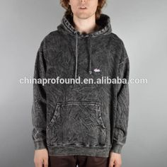 wholesale plain black hoodie acid wash mens thick hoodie manufacturer, View black hoodie, PROFOUND Product Details from Guangzhou Profound Garment Co., Ltd. on Alibaba.com
