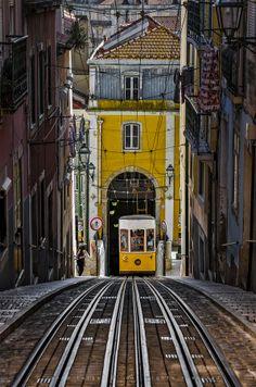 """The """"Bica"""" Funicular – Lisbon, Portugal by Ricardo Bahuto Felix #portugal #funicular #lisboa #lisbon"""