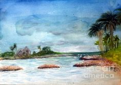 Title  Jupiter Inlet  Artist  Donna Walsh  Medium  Painting - Watercolor On Paper